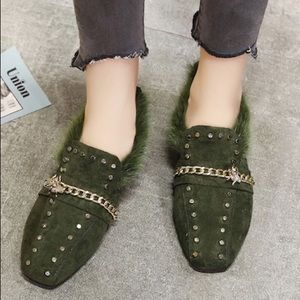 Shoes - ☘️Olive Loafers☘️